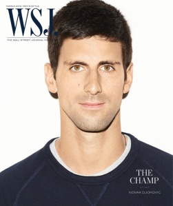 Novak Djokovic 2015 WSJ. Magazine